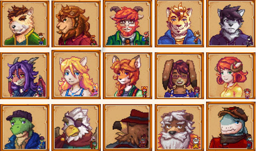 Anthro Characters Mod for Stardew Valley | Stardew valley