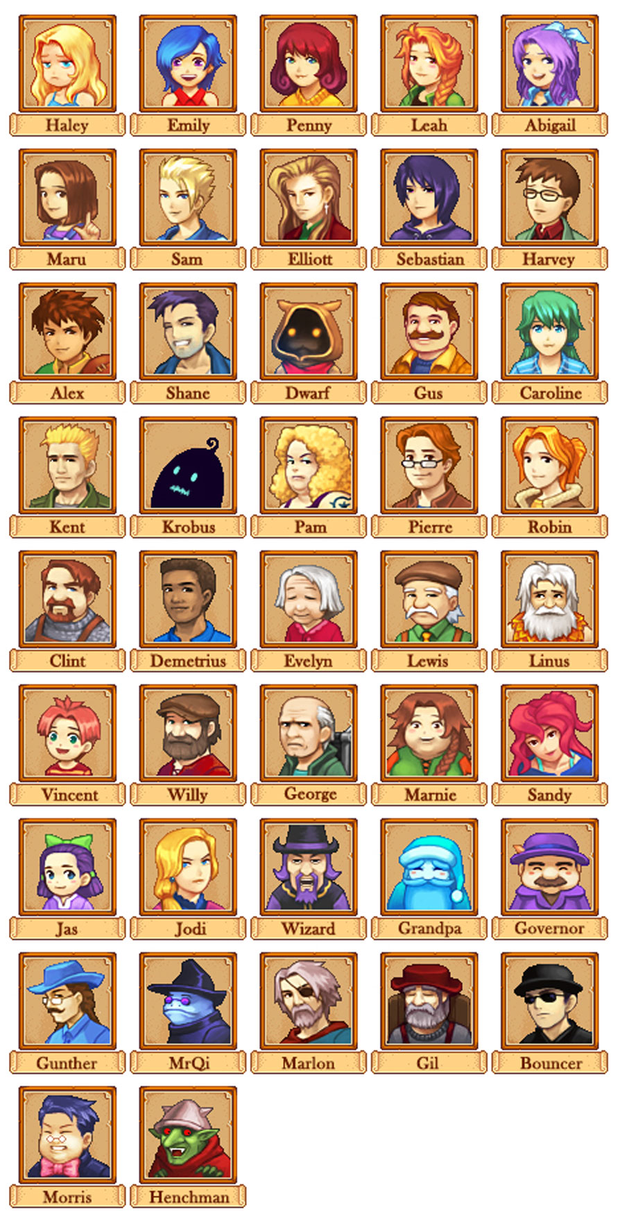 Portraits Character Mod for Stardew Valley   Stardew valley