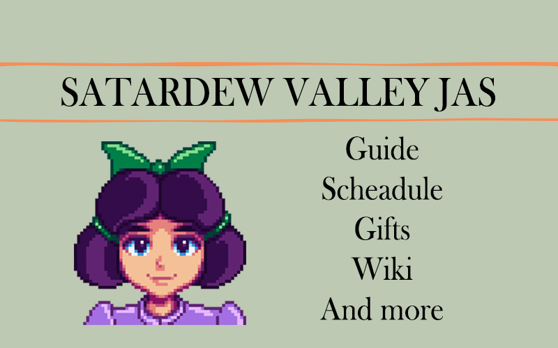 Stardew Valley Jas guide: schedule and more | Stardew valley