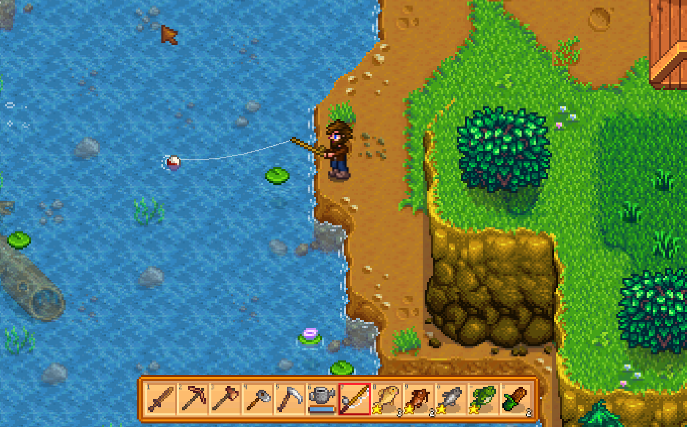 Stardew valley East south of the mine entrance