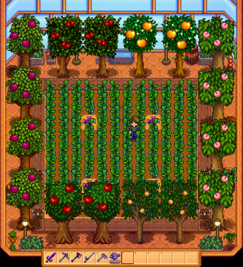 stardew valley greenhouse trees