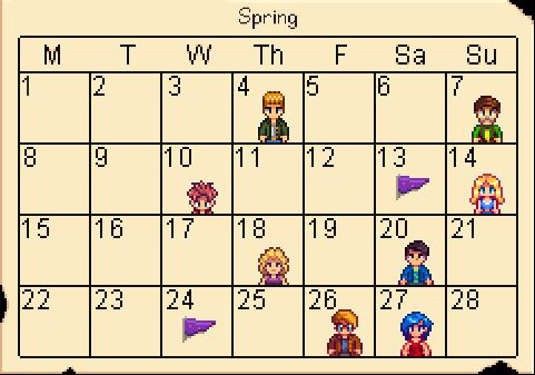 Birthday-Calendar-Spring