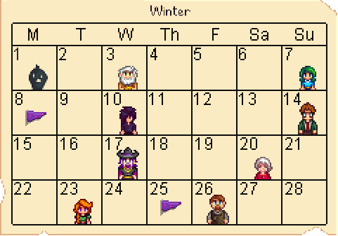 Birthday-Calendar-Winter