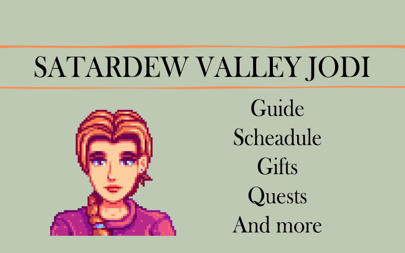 Stardew valley Jodi