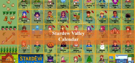 stardew valley calendar
